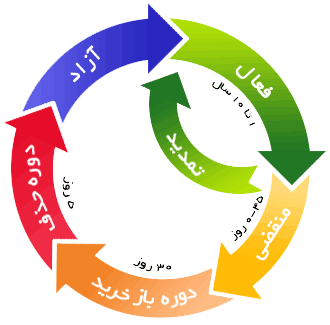 چرخه حیات دامین